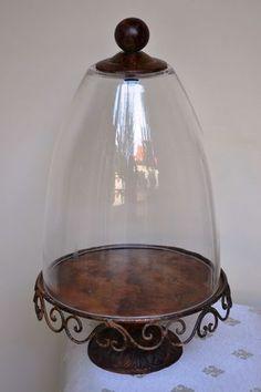 antique cast iron French cake stand/cloche....So pretty. I love old iron.