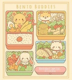 Kawaii Doodles, Kawaii Chibi, Cute Doodles, Kawaii Art, Kawaii Bento, Cute Food Drawings, Cute Animal Drawings Kawaii, Arte Copic, Ouvrages D'art