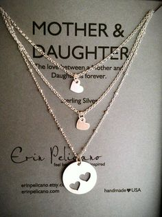 I FOUND THE ONE FOR 2 DAUGHTERS!!! I WANT THIS!! Mother Two Daughters Necklace Set // Inspirational by erinpelicano,