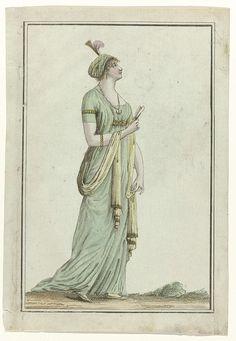 Tableau Général du Goût, 1797, An 5 (11) (5 aug. 1797): Jeune personne coifée et vêtue à la turque., possibly Laurent Guyot, 1797