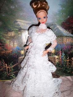 DOTW Parisian Blonde Steffie Face Barbie in OOAK Wedding Dress by The doll keeper, via Flickr