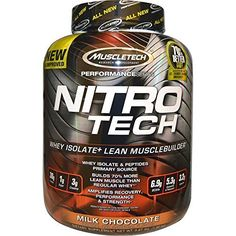 MuscleTech NitroTech Protein Powder, Whey Isolate + Lean MuscleBuilder, Milk Chocolate, 3.97 lbs (1.80kg) - http://alternative-health.kindle-free-books.com/muscletech-nitrotech-protein-powder-whey-isolate-lean-musclebuilder-milk-chocolate-3-97-lbs-1-80kg/