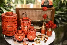 Era-themed setup at Seven Terraces. Event Styling by Bliss & Glitz. www.theweddingnotebook.com