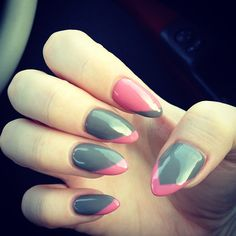Pink 'n grey nails, created using Jessica GELeration.