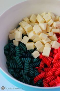 This super easy patriotic pasta is the perfect side dish for a 4th of July barbecue.