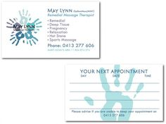 Massage therapist business cards #stationery #logo #marketing
