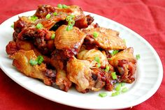 Sticky Wings - in a crockpot! Broil at the end. So easy and they sound amazing.