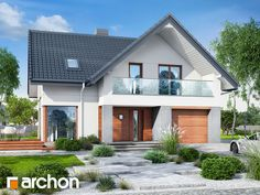 Dom w żurawkach 10 Modern Bungalow House, Bungalow Renovation, Home Fashion, Planer, Home Projects, Shed, Exterior, House Design, Outdoor Structures