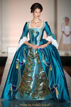 18th Century Peacock Robe A L'Anglais . Design by Cierra Treloar