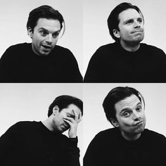 Sebastian ⭐️ Stan's faces never fail to make me smile. Bucky Barnes, Ben Barnes, James Barnes, Sebastian Stan, Tom Hiddleston, Man Thing Marvel, Marvel Actors, Raining Men, Stucky