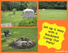 Great 9 Year Old Boy Birthday Party Idea: Backyard Campout Sleepover! - MomOf6 — MomOf6