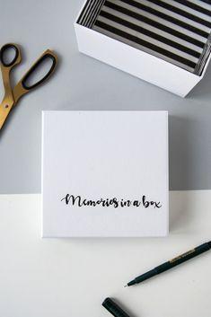 DIY: Memories in a box