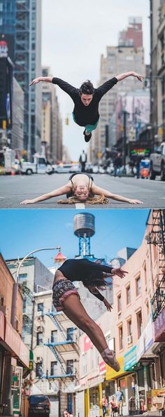 "culturenlifestyle: "" Beautiful Ballet Portrait Of Performers Claiming The Streets Of NYC Ballet is an intimately physical art that has been merged with the beauty of music, photography and dance,..."