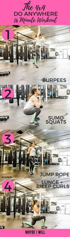 Short on time? Don't skip working out! This crazy effective 16 Minute workout may be simple but you will burn some serious calories!  via @andiethueson
