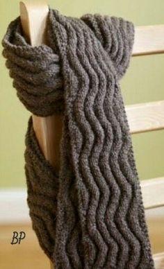 Free Knitting Pattern Meandering Rib Scarf : Lion Brand Yarn Company by Lion Brand Yarn. Loom Knitting, Knitting Stitches, Knitting Patterns Free, Knit Patterns, Free Knitting, Free Pattern, Start Knitting, Simple Knitting, Simple Pattern