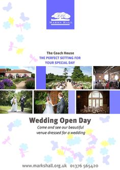 The Coach House, Marks Hall Estate @Marks_Hall Who is coming to our Wedding Open Day on the 27th April? http://www.markshall.org.uk/weddings-functions/ https://www.facebook.com/pages/The-Coach-House-Marks-Hall-Estate/309137899104156