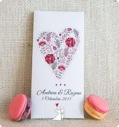 Invitatie de nunta cutie cu ciocolata Love chocolate Nasa