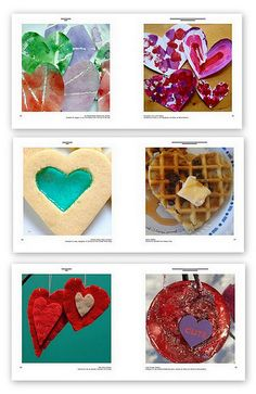 Sneak peak of The Heart Project: Gorgeous e-book that is packed full of valentine crafts, art, recipes, play idea. Five dollar charity donation and you can download the free book