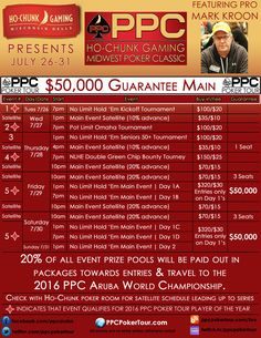 Ho-Chunk Midwest Poker Classic July 26-31 | PPC Poker Tour