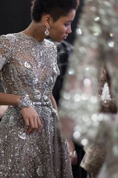 A sneak peek backstage at Elie Saab's Spring/Summer 2016 presentation at Haute Couture Week.