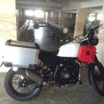 Royal Enfield Himalayan Production Version Spotted In White