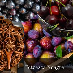 A Pocket Guide- Red Romanian Grapes- Feteasca Neagra - Wine & Dine Today Dried Plums, Black Currants, Red Fruit, Wines, Cherry, Pocket, Dining, Food, Meal