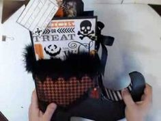 Halloween Scrapbook - Hocus Pocus...by Kathy Orta... Beware, you will want to make every project she shares!