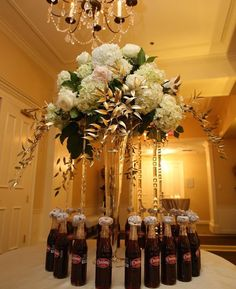 Thanks to on IJnstagram for this beautiful Cheerwine Centerpiece! Centerpieces, Table Decorations, Special Day, Weddings, How To Make, Beautiful, Home Decor, Homemade Home Decor, Wedding