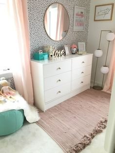 10 Essential Styles for the Perfect Tween Girl Bedroom - Twin Pickle Girls Bedro. 10 Essential Styles for the Perfect Tween Girl Bedroom - Twin Pickle Girls Bedroom Decor Teenage Girl Bedrooms, Big Girl Rooms, Teen Bedroom, Shared Bedroom Girls, Curtains For Girls Bedroom, Mirror In Bedroom, Girls Bedroom Wallpaper, Girls Bedroom Storage, Grown Up Bedroom