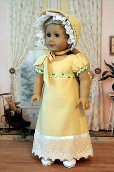Regency Gown for American Girl Doll by BabiesArtUs on Etsy