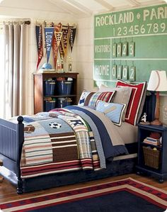 Nice 55+ Marvelous Children's Bedroom Design Inspiration with Sports Themes Style https://freshouz.com/childrens-bedroom-design-inspiration-with-sports-themes/