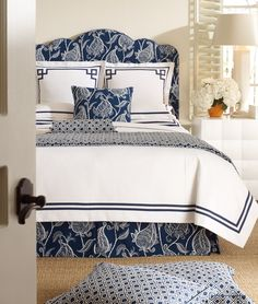 Lucinda Blue - navy & white bedding