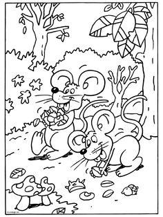 * Muizen zoeken eten...