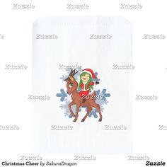 Christmas Cheer Favor Bag #christmas #holidays #reindeer #chibi #kawaii