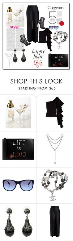 """""""THE SHAKEN NOT STIRRED CHIC{K} ...the job is over, now it's time to put in werk"""" by g-vah-styles ❤ liked on Polyvore featuring Beaufille, Gucci, David Yurman, Chanel, Joseph, Steve Madden and happyhour"""