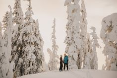 A Snow-Capped Engagement by Hartman Outdoor Photography
