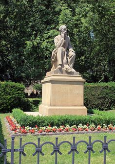 Statue of Bedřich Smetana, from Josef Marek front of the castle at Hus Square in Nové Město nad Metují