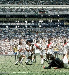 Brazil 4 Peru 2 in 1970 in Guadalajara. Rivelino opens the scoring from a free-kick in the World Cup Quarter Final. 1-0 Brazil.