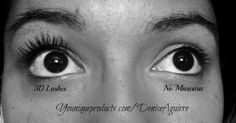 My nieces results  Before and after Younique 3D Mascara    Youniqueproducts.com/deniseaguirre