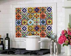 Kitchen Bathroom Tile Decals Vinyl Sticker : Mexican Spanish Mix Decals  TR001