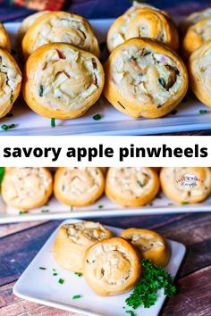 sweet apples with a savory dough and spices for an easy and delicious fall appetizer Pinwheel Appetizers, Fruit Appetizers, Pinwheel Recipes, Apple Recipes, Fall Recipes, Diabetic Recipes, Meat Recipes, Cream Cheese Crescent Rolls, Pillsbury Recipes