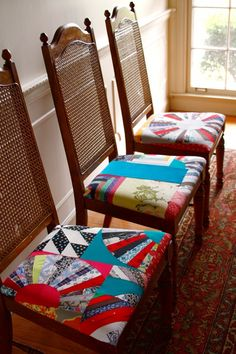 These chairs huddled around a big sewing table in an attic in an imaginary home. Yep.