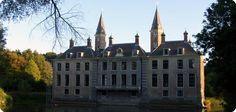 foto achterzijde kasteel Ter Hooge nabij Koudekerke