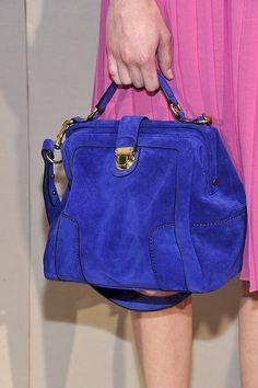 j crew blue & gold purse