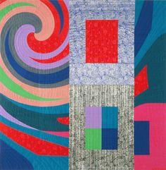 Disturbances 7 Hand Stitched Art Quilt by  Marilyn Henrion