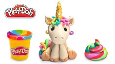 How to make Unicorn with poop out of Play Doh or Clay. DIY Tutorial for ...