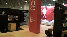 We continue to work on behalf of the Secretariat de Cultura de Mexico. Here's their stand at the Frankfurt Book Fair Exhibition Stands, Trade Show, Frankfurt, Mexico, Book, Design, Books, Libros, Book Illustrations