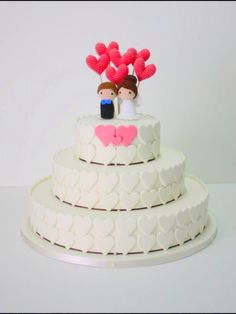 This listing is for 8 cake toppers. Includes Bride, Groom and 6 Hearts. Bride and Groom are about 8 cm tall Unless otherwise specified, the