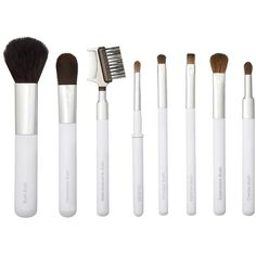 Sonia Kashuk Deluxe Travel Brush Set ($21) ❤ liked on Polyvore featuring beauty products, makeup, makeup tools, makeup brushes, fillers, beauty, white, white fillers, makeup tools & brushes and sonia kashuk