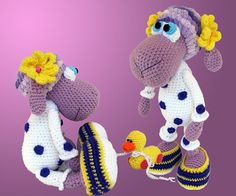 THIS IS A CROCHET PATTERN WITH PICTURES FOR MAKING A TOY, NOT A TOY INSELF. This is a crochet pattern with pictures for making a toy, not a toy itself. ========================================  Little Sheep in pajamas, with a tiny duck. Cute sweetie pie, this little Sheep in pajamas loves her tin...